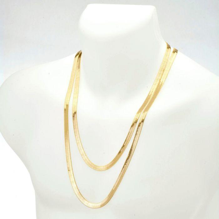 Men S Bling 14k Gold Plated 7 Mm 24 30 Inch Double Herringbone Chain